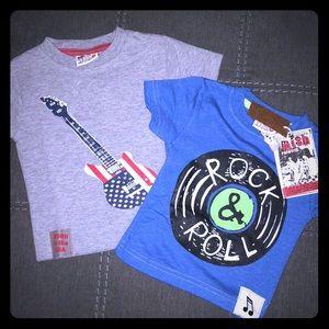 {MISH BOYS} 2 t-shirt baby boy bundle 9M